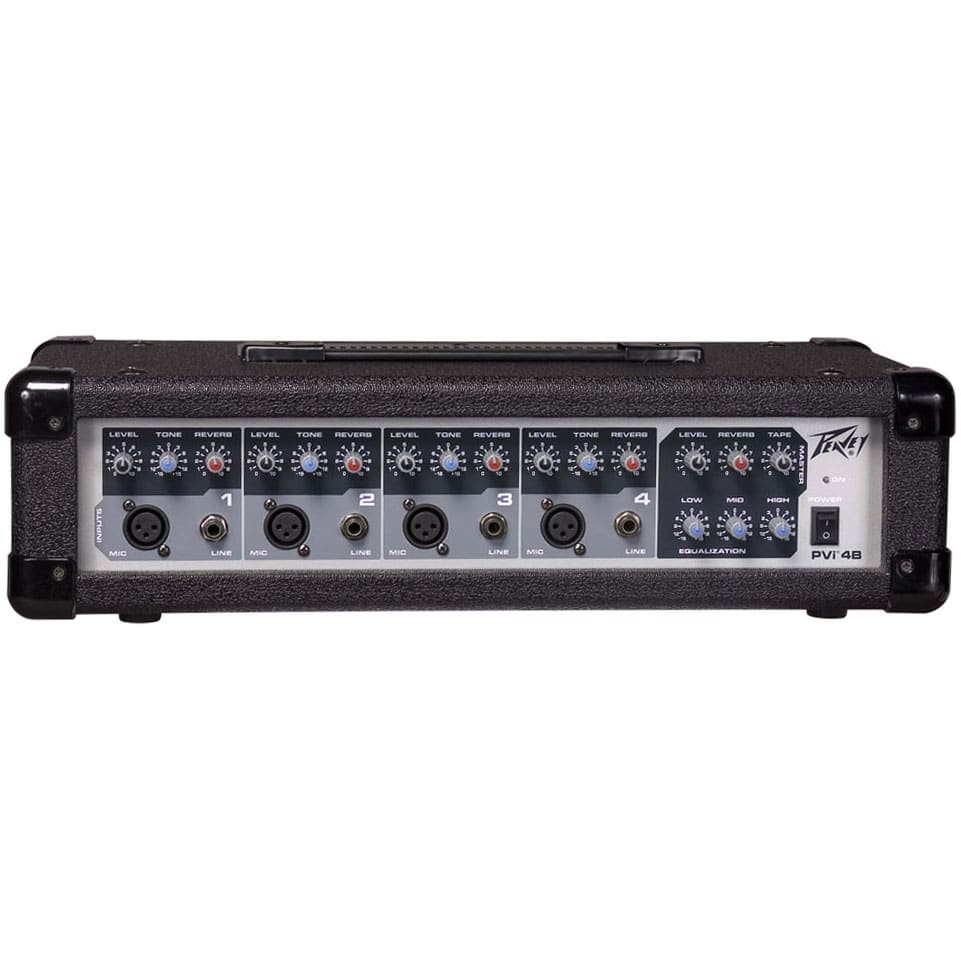 Consola Analoga Amplificada 4 Canales 4 Mic/Line 1 Stereo In 1 Aux Post EQ 100 Watts Peavey PVI4B-MIXER
